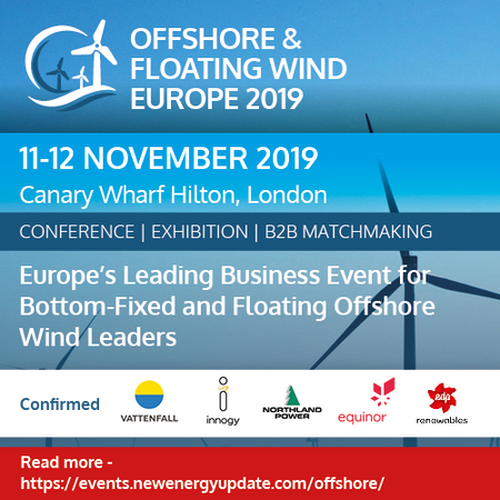 Offshore & Floating Wind Europe 2019 (11to12 Nov) co-located with ITES