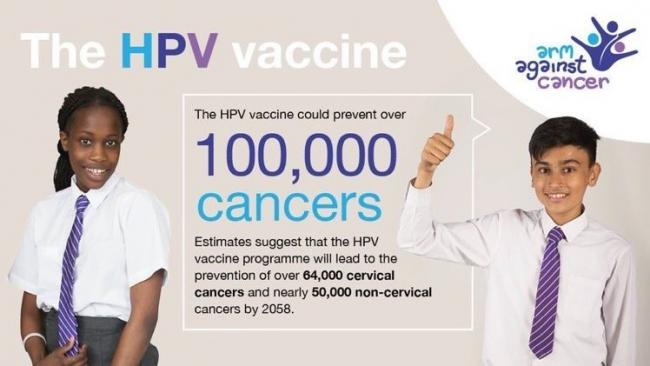 The HPV vaccination will be available to boys aged between 12 and 13 years of age