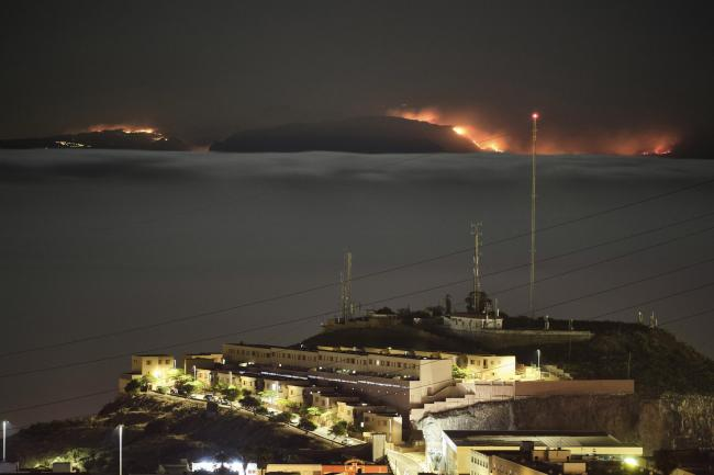 Canary Islands wildfire
