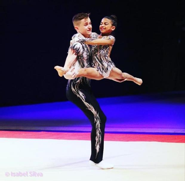 Richmond and Twickenham Times: 14-year-old Henry Godfrey and his partner 11-year-old Keira Follett both compete in acrobatic gymnastics which is a non-funded sport.