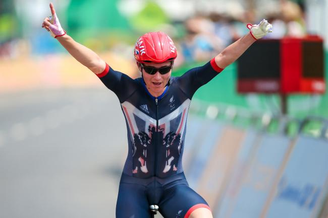 Sarah Storey en route to winning gold in Rio. Pic: SWpix.com