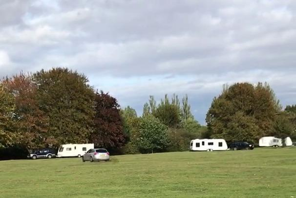 The Council have removed the travellers who decided to set up camp over the weekend.