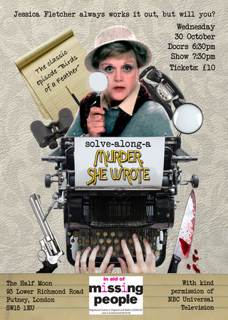 Solve Along Murder She Wrote Interactive Show at Half Moon Putney 30 Oct
