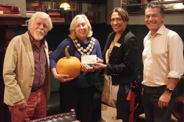 The Mayor was presented with a thank you pumpkin