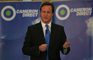 Cameron Direct: David Cameron tells an audience at Christ's School, Richmond, there will be no third runway at Heathrow