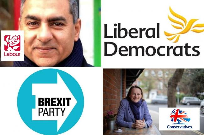 Top left: Ranjeev Walia, Labour Bottom right: Isobel Grant, Conservatives