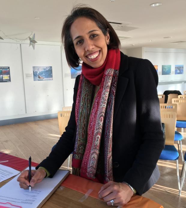 Munira Wilson MP supports Greenpeace in Twickenham   Richmond and ...