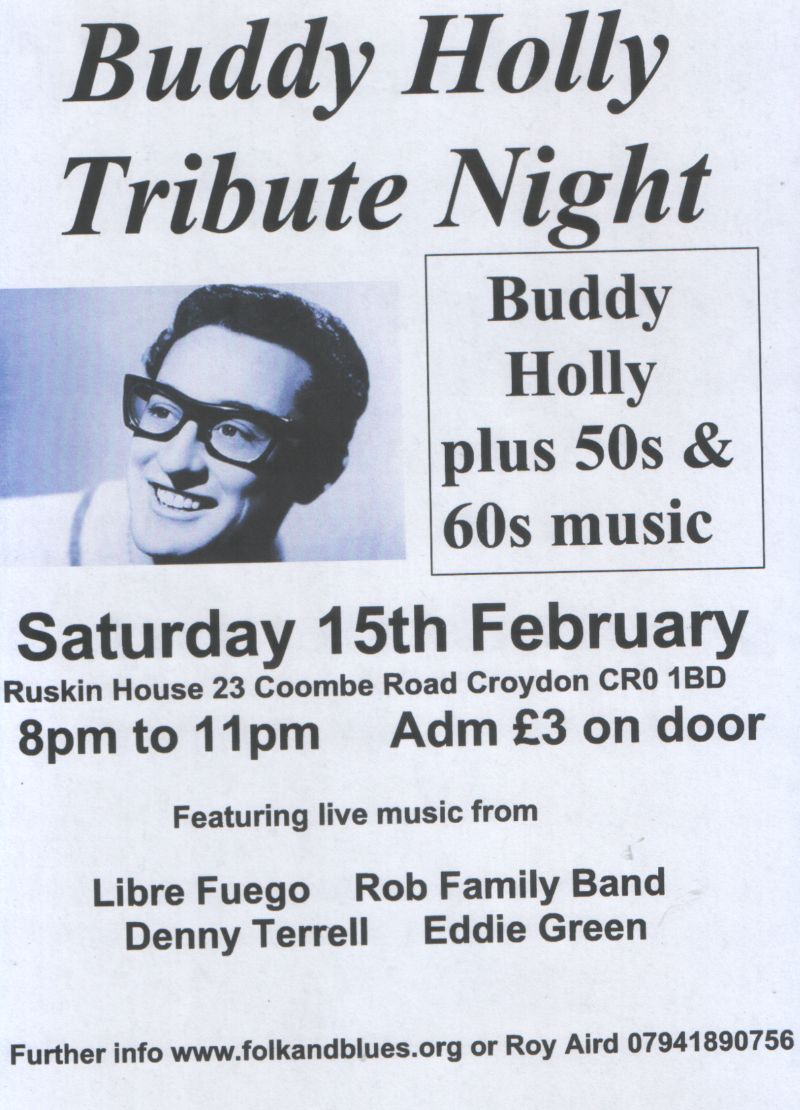 Buddy Holly Tribute Concert