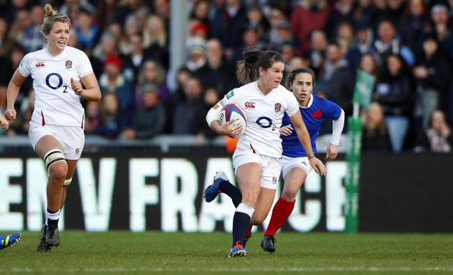 Leanne Riley during the England Women v France Women at Sandy Park (Photo by Lynne Cameron - RFU)