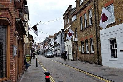 Church Street in Twiceknham will be pedestrianized to allow people to distance from each other amid the ongoing threat of coronavirus. Image: Richmond Council