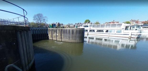 Richmond and Twickenham Times: Sunbury Locks, where a man's body was recently recovered after he had entered the water one evening
