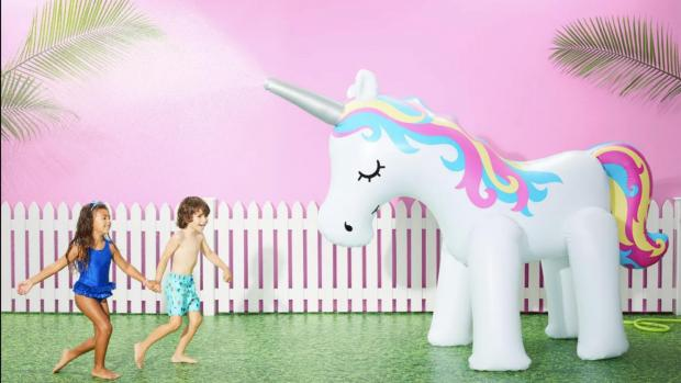 Richmond and Twickenham Times: This unicorn sprinkler looms above kids, but it's a good size for adults, too. Credit: Sun Squad