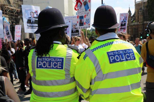 Just 3.5 per cent of Met officers are black compared to 13.3 per cent of Londoners (Photo: Ethan Wilkinson).