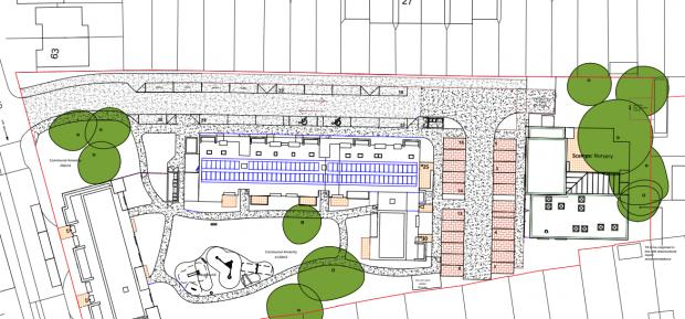 Richmond and Twickenham Times: Screenshot of proposed plan for landscaping at the site. Image via Richmond Council