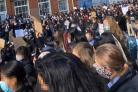 Nonsuch students staged a protest against racism last month