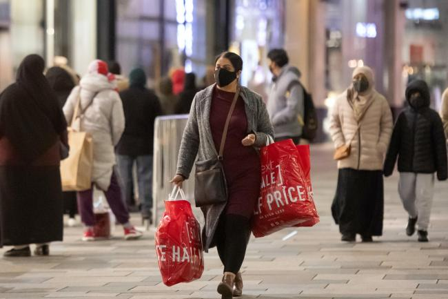 Shoppers in Leicester