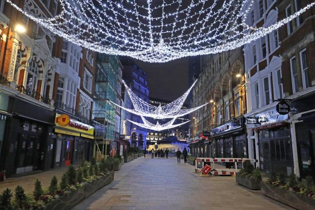 Irving Street leading to Leicester Square - Jonathan Brady/PA Wire