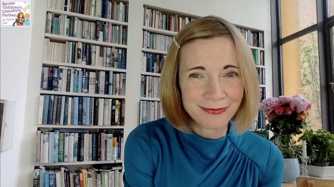 Lucy Worsley at the Barnes Children's Literature Festival 2020 - Courtesy of BCLF 2020