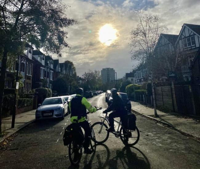 Police on bicycles in North Richmond. Image: North Richmond MPS via Nextdoor