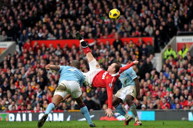 Wayne Rooney's Manchester derby stunner was one of a number of spectacular goals in his career