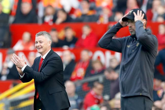 Ole Gunnar Solskjaer, left, is looking to get the best of Jurgen Klopp on Sunday