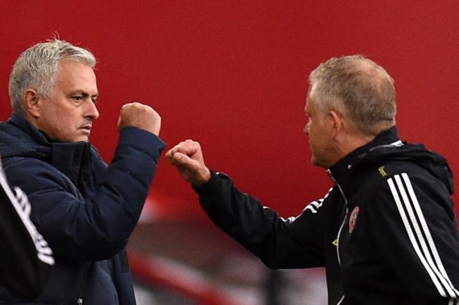 Chris Wilder (right) has praised Jose Mourinho