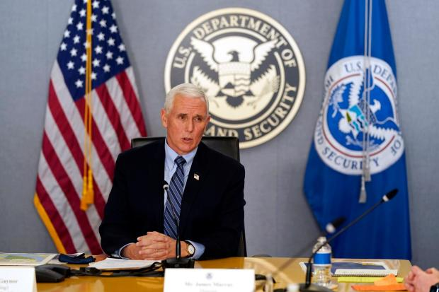Vice President Mike Pence speaks during a briefing about the upcoming presidential inauguration of President-elect Joe Biden and Vice President-elect Kamala Harris