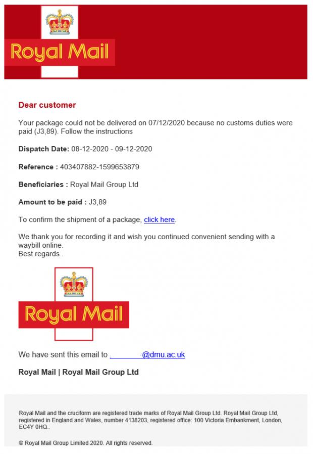 Richmond and Twickenham Times: People are being warned that this email is a scam