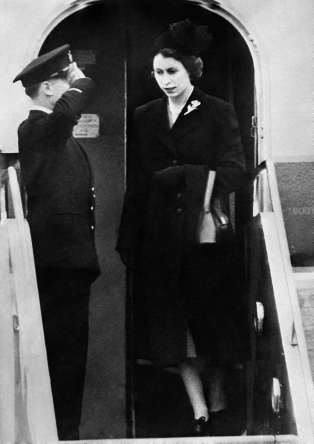 Richmond and Twickenham Times: The Queen sets foot on British soil for the first time since her accession as she lands at London Airport following the death of George VI (PA)