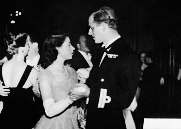Richmond and Twickenham Times: Princess Elizabeth dancing with her fiance, Lieutenant Philip Mountbatten (PA)