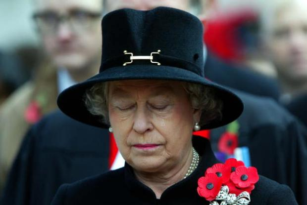 Richmond and Twickenham Times: The Queen sheds a tear during the Field of Remembrance Service at Westminster Abbey in 2002 (PA)