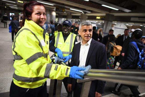 Sadiq Khan on the London Underground - PA