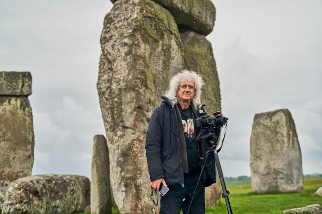 Brian May at Stonehenge