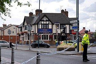 Mystery death: Police were today investigating the death of a man found slumped in a car outside a pub. Pic: Darren Graham