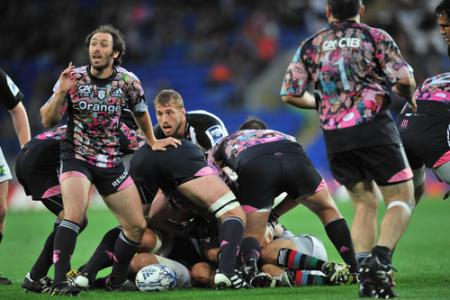 Pictures from Harlequins' win in the Amlin Challenge Cup Final against Stade Francais at the Cardiff City Stadium. Picture: Stephen Bartholomew / Galvineyes