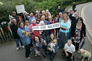 Stop the closure: Dogwalkers hit out at the plans to close access to the popular footpath