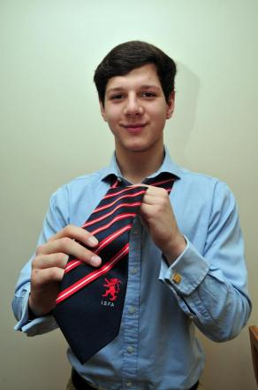 Proud as punch: Richmond's Gani Nuredini with his England tie