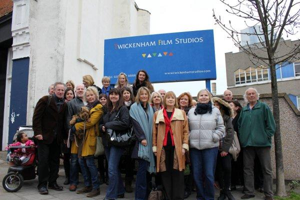 Fighting talk: Members of the Save Twickenham Film Studios campaign said they were delighted with Taylor Wimpey's announcement