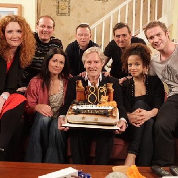 Bill Roache was presented with a special Corrie cake for his 80th birthday
