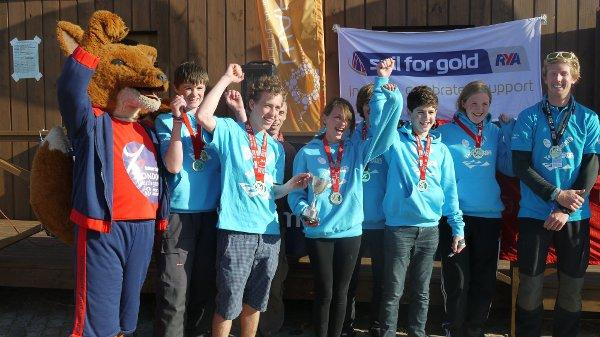Winners: Lambeth's sailors celebrate their success on the water last Saturday