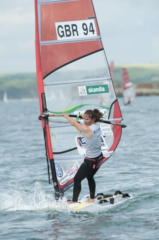 Fighting fit: Bryony Shaw was happy to end the Sail for Gold event in one piece