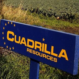 Protesters said they had blockaded Cuadrilla Resources' drilling rig at a site in Derbyshire