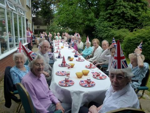 Jubilee celebrations at Sutton Lodge