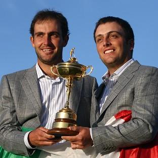 Francesco Molinari (right) is keen to be part of the Ryder Cup again
