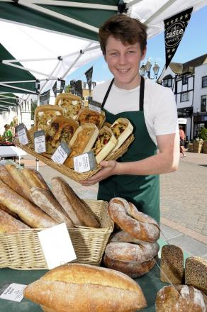 Huw Rowley-Conwy from the Flour Station bread stall at least year's event