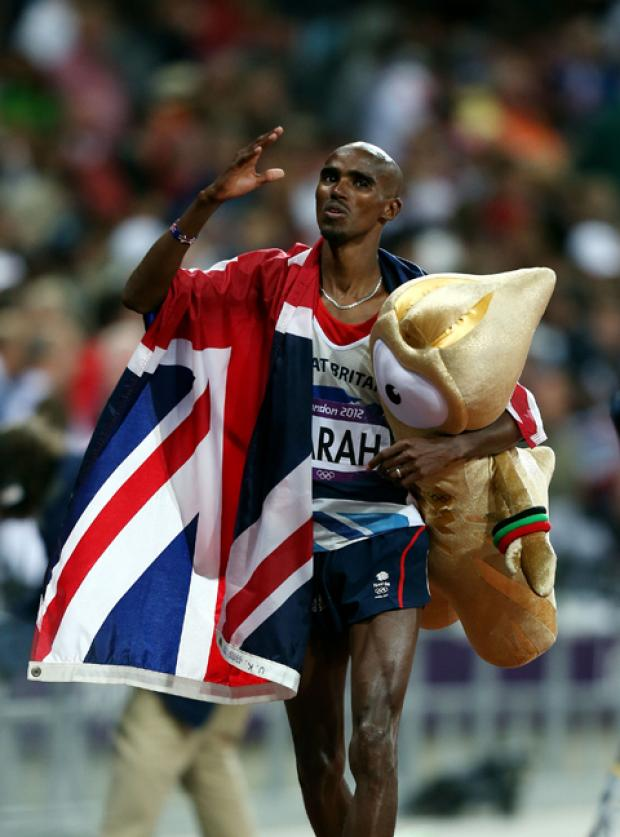 Mo Farah celebrates his win (Picture: David Davies/PA Wire)