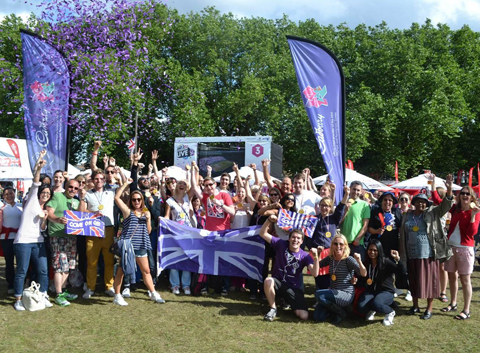 Cadbury celebrate Team GB wins in Victoria Park