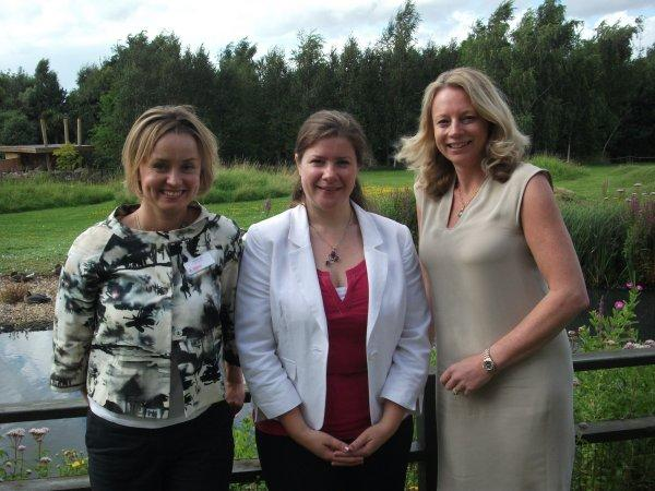 Felicity Lee, Response Ability; Joanne Sumner, regional director, Athena West London and Jane Michel, Jane Plan