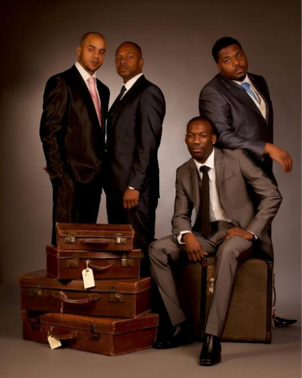 Up on the stage: The Drifters