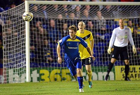 Man of the moment: Stacy Long's last-gasp penalty winner at Torquay could be very significant
